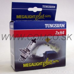 Tungsram GE Megalight Plus +60% H4 60/55W Set 2ks