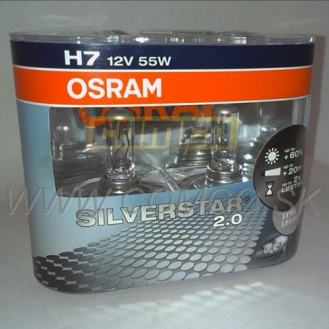 osram h7 silverstar 2 0 60 55w set 2ks comco n hradn diely oleje filtre. Black Bedroom Furniture Sets. Home Design Ideas
