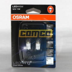 OSRAM Cool White W5W LED 6000K 1W Set 2ks