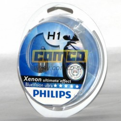 PHILIPS Blue Vision Ultra +30% H1 55W Set 2ks