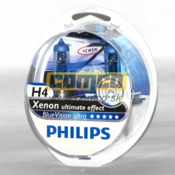 PHILIPS White Vision +40% H4 60/55W Set 2ks
