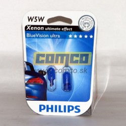 PHILIPS Blue Vision Ultra W5W 5W Set 2ks